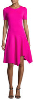 St. John Milano Knit Handkerchief-Hem Dress, Pink