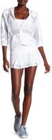 Trina Turk Box Pleat Mesh Skirt