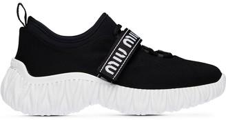 Miu Miu Stretch Knit Sneakers