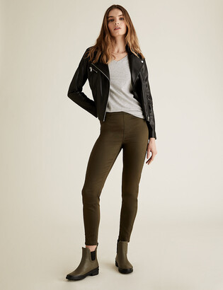 Marks and Spencer PETITE Faux Leather Biker Jacket