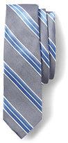 Lands' End Men's Silk Oxford Stripe Necktie-Classic Navy Stripe