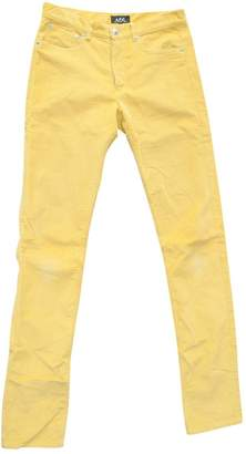 A.P.C. Yellow Cotton Trousers for Women