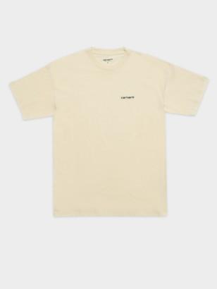 Carhartt Short Sleeve Embroidery T-Shirt in Flour