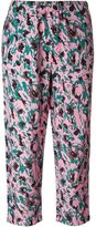 Marni abstract printed cropped trousers - women - Viscose - 42