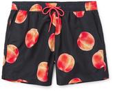 Paul Smith Mid-Length Peach-Print Swim Shorts
