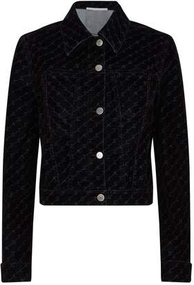 Stella McCartney Monogram Velvet Denim Jacket
