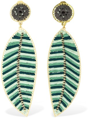 Mercedes Salazar Hoja Clip-on Statement Earrings