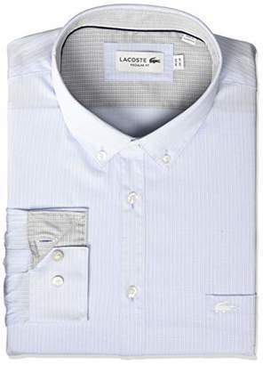 Lacoste Men's Long Sleeve Regular Fit Poplin City Woven Shirt