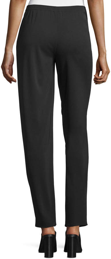 Shamask Narrow-Leg Pull-On Pants, Black