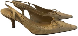 Chanel Slingback Beige Water snake Heels