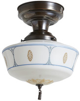 Rejuvenation Classical Revival Flush Mount w/ Stenciled Shade