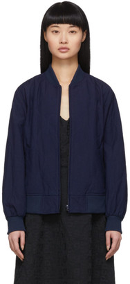 Blue Blue Japan Indigo Quilted Bomber Jacket