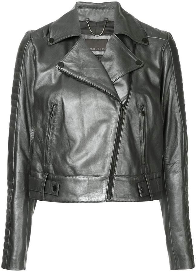 Ginger & Smart cropped biker jacket