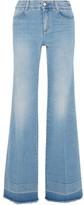 Stella McCartney Frayed Wide-leg Jeans - Light denim