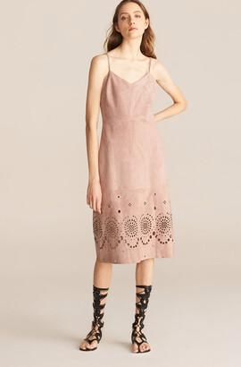 Rebecca Taylor Laser Cut Suede Dress