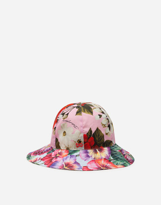 Dolce & Gabbana Poplin Hat With Mixed Flower Print