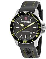 Wenger Sea Force 01.0641.110 Men's Stainless Steel and Grey Silicone Watch