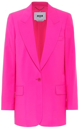 MSGM Virgin wool blazer