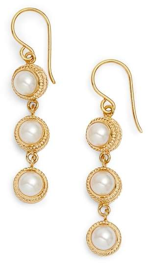 Anna Beck Triple Pearl Drop Earrings