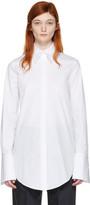 Jil Sander Navy White Stretch Poplin Shirt