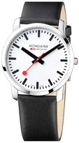 Mondaine Men's 'Simply Elegant' Leather Strap Watch, 41Mm