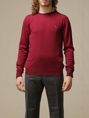 Etro Wool Sweater With Embroidered Pegasus