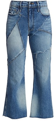 Frame Le Sylvie High-Rise Kick Bootcut Mixed Media Jeans