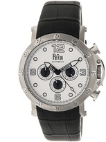 Reign Toretto Collection Men's Automatic Leather and Stainless Steel Watch