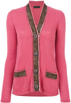 Etro contrast knitted cardigan - women - Polyamide/Polyester/Viscose/Wool - 40
