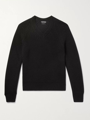 Tom Ford Slim-Fit Ribbed Cashmere Sweater