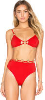 For Love & Lemons Mallorca Ring Triangle Top in Red. - size L (also in M,S,XS)
