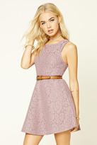 Forever 21 FOREVER 21+ Floral Lace Fit and Flare Dress