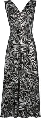 Paco Rabanne Leaf Jacquard Midi Dress