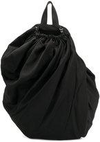 Yohji Yamamoto drawstring draped backpack