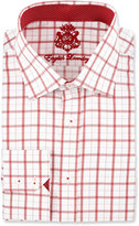 English Laundry Plaid Long-Sleeve Dress Shirt, Red
