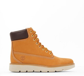 Timberland Kenniston Leather Ankle Boots with Laces and Chunky Heel