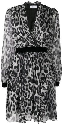 Blumarine Leopard Print Wrap Dress