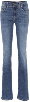 7 For All Mankind Mid-rise slim bootcut jeans