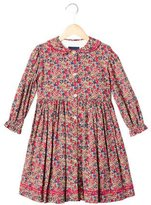 Papo d'Anjo Girls' Floral Long Sleeve Dress
