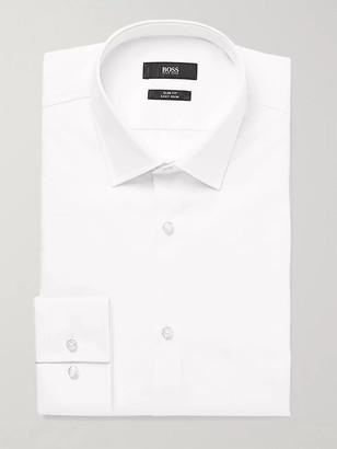 HUGO BOSS White Jenno Slim-Fit Cotton Shirt