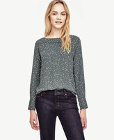 Ann Taylor Raindrop Perforated Boatneck Top