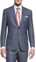 Brioni Colosseo Mini-Chevron Two-Piece Suit, Gray