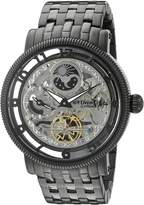 Stuhrling Original Men's 8411.335B1 Symphony DT Analog Display Dual TimeAutomatic Self Wind Black Watch