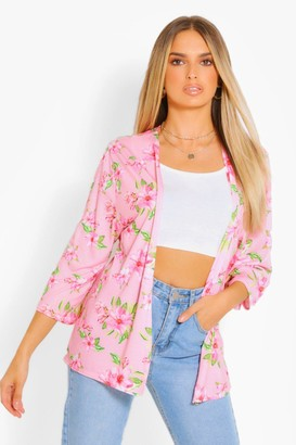 boohoo Tropical Print Kimono