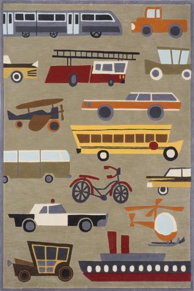 Lil Mo Whimsy Transportation rug