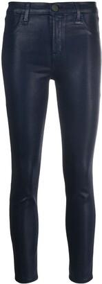 J Brand High-Shine Skinny Cut Trousers