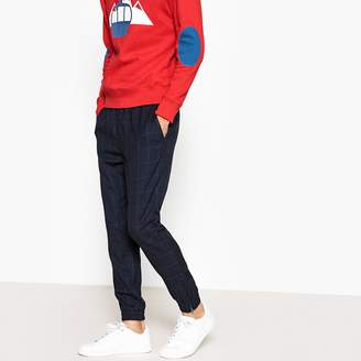 La Redoute Collections Checked Joggers