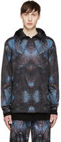 Marcelo Burlon County of Milan Black and Blue Potosi Windbreaker Jacket