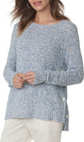 Chaps Buttoned-Side Marled Sweater