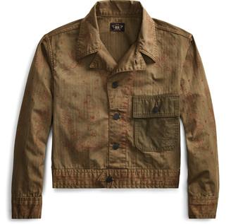 Ralph Lauren Cropped Herringbone Jacket